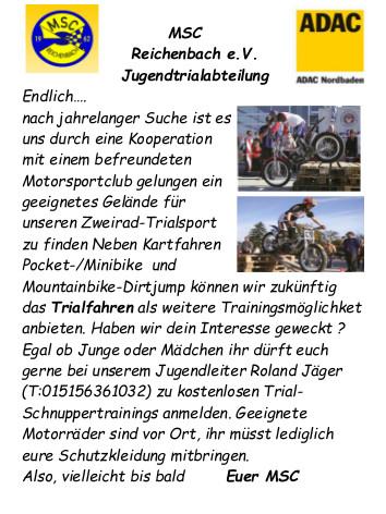 Annonce_Wiederaufnahme Trialsport_04.2014