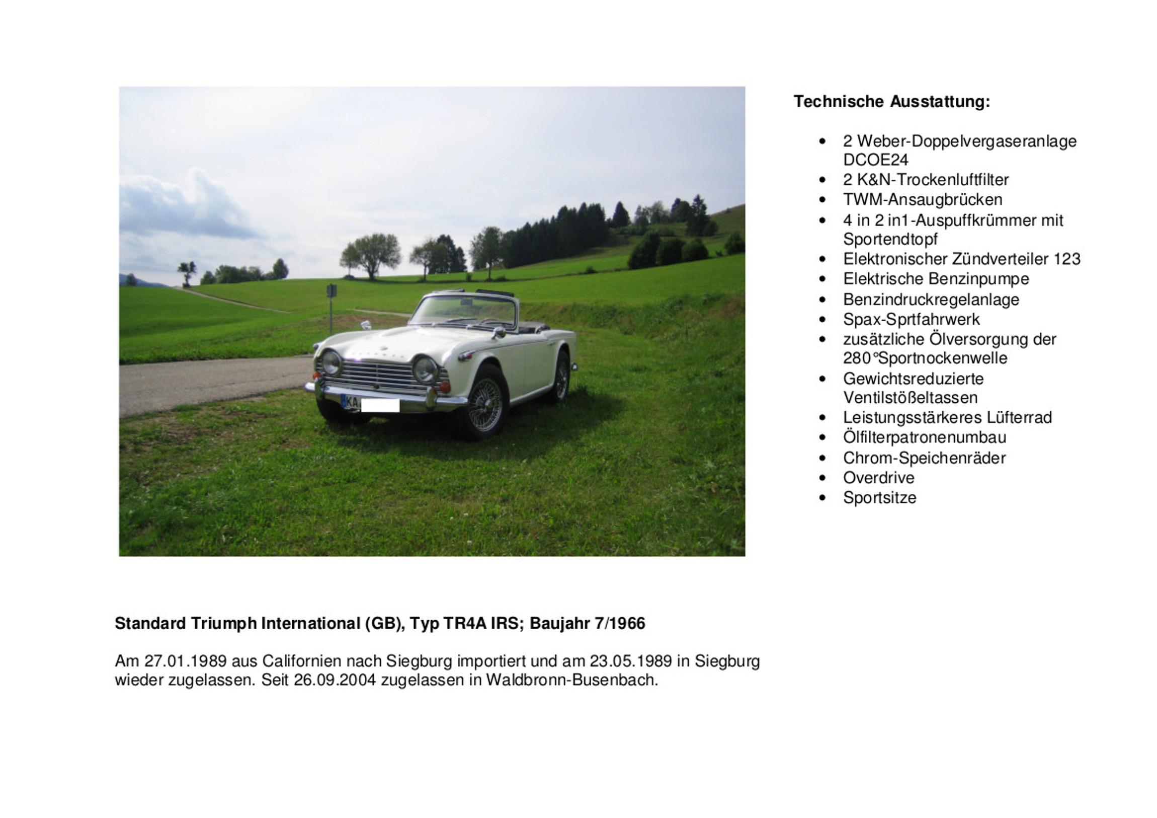 Fahrzeugvorstellung TR4A IRS