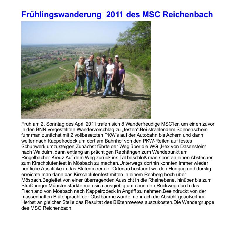 frühjahrswanderung 2011